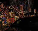 Take a look at this lighted archway along with the hundreds of lights!